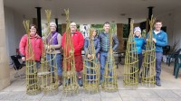 Willow Plant Supports Workshop - Obelisks. Supporting 'Wellbeing' for World Mental Health Week