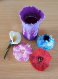 Felt Flowers and Vessels