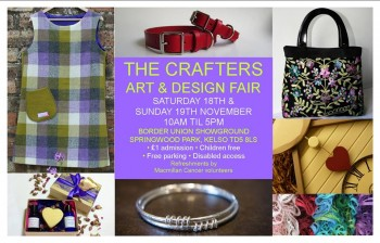 The Crafters Art and Design Fair Springwood Park, Kelso Sat 18th & Sun 19th November 2017 10am to 5pm both days