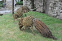 The Chorister School Durham Willow Honey Bee Sculptures