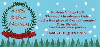 A Little Norham Christmas, Friday 24th November, 6-9pm