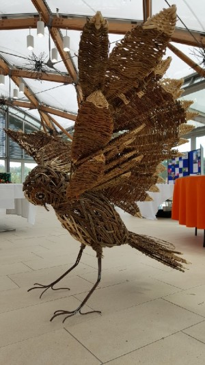 Willow Owl, made with the help of the 'Elderberries' at Alnwick Garden