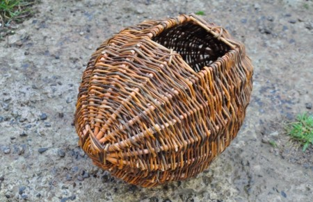 Crealagh, a basket for warming wool by the fire ready for spinning or carding.