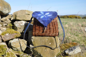 Willow Shoulder Basket with Felt Lid