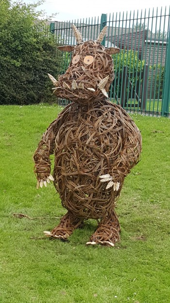 Willow Gruffalo Sculpture, Milecastle Primary School, Newcastle