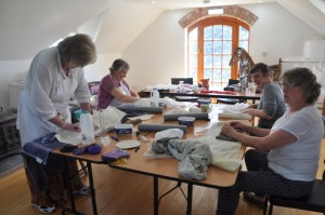 First Felt Workshop in the new studio at Biteabout