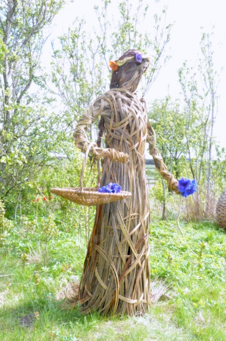 Northumberland WI Commissioned a Willow Woman with Flowers for their Centenery Celebrations