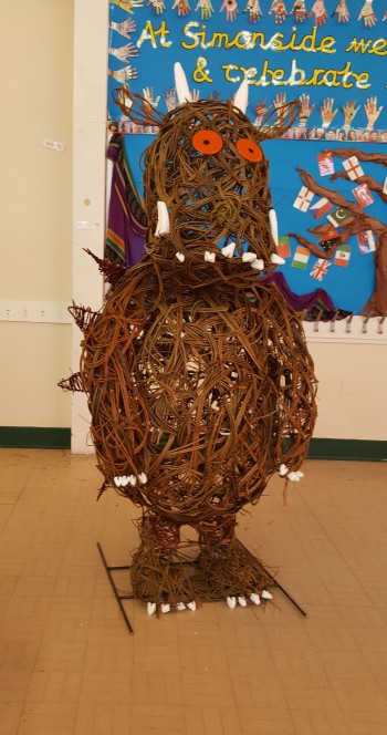 Willow Gruffalo, Simonside Primary School, Newcastle