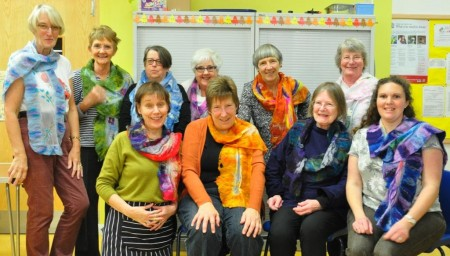 Nuno Felted Scarves Workshop with East Lothian Embroiderers and Textile Artists