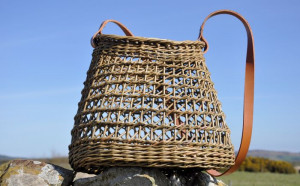 Irish Weave Shoulder Basket