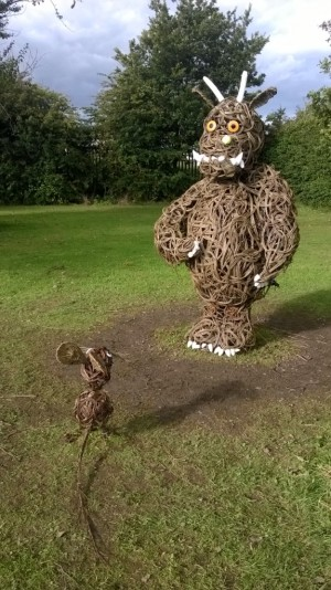 Willow Gruffalo and mouse made by Children working with Anna at Oakdene Primary School, Stockton