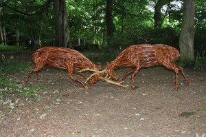 'Willow in the Wild Woods' Sculpture Exhibition at Rievaulx Terrace, North Yorkshire