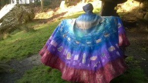 Felt Cloak commissioned by Recreating The Community, Durham Cathedral